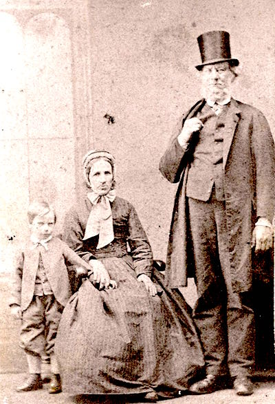 William Mantle Barber with wife Mary (née Neale) and son, circa 1870.