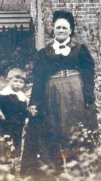 Caroline Clarke with grandson c.1916