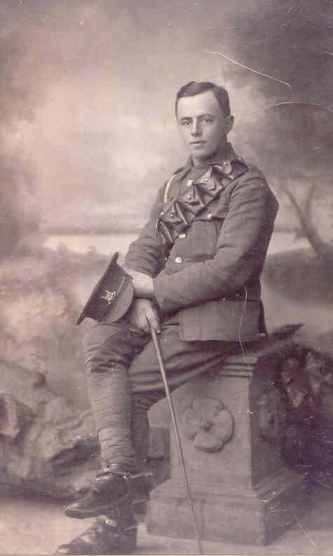 Ernest Edward Thomas Dewey in his Suffolk Regiment uniform, circa 1915. Photo: Andrew Martin