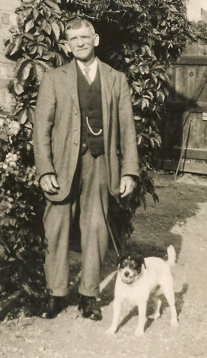 Edward Moden with his dog, c.1931.