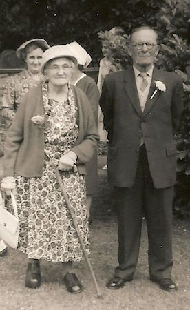 Alfred Newman with his wife Clara (née Gilbert) at Littleport in 1962. Photo: Andrew Martin