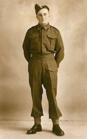 Sapper Owen Gilbert Newman in his Royal Engineer's uniform, WWII. Photo: Andrew Martin