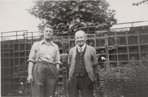 John Boulter (right) with his son Edward Mafeking Boulter (left). Photo: Kelsa Smith