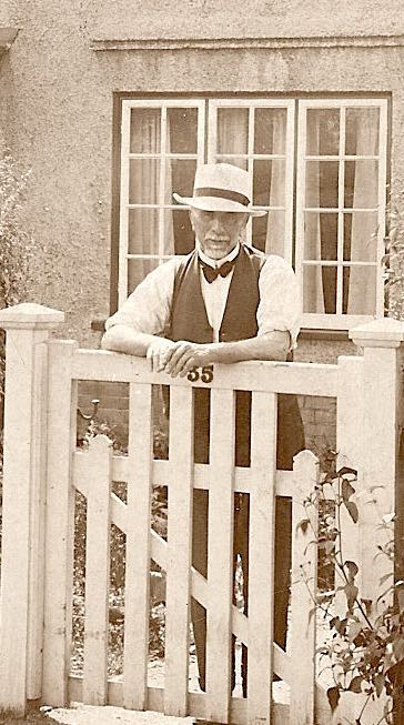 John Freeman Dewey outside his son's house in Chatteris, circa 1930. Photo: Andrew Martin