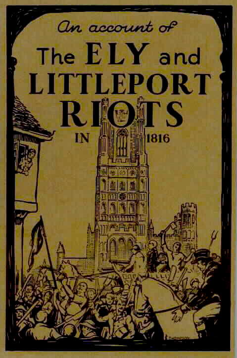 An Account of The Ely and Littleport Riots in 1816 book cover, 1893.