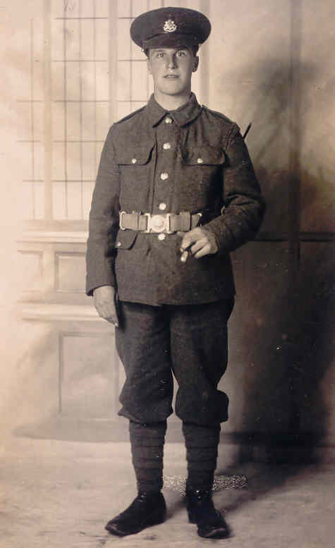 Albert Martin (1899-1918) in WWI uniform