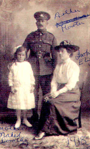 Isabella Elizabeth Newman with her husband Arthur, and daughter Mabel Martin during WWI. Photo: Carol Trigg