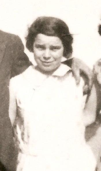 Lois Margaret Yarrow circa 1930 at Wilburton Station.